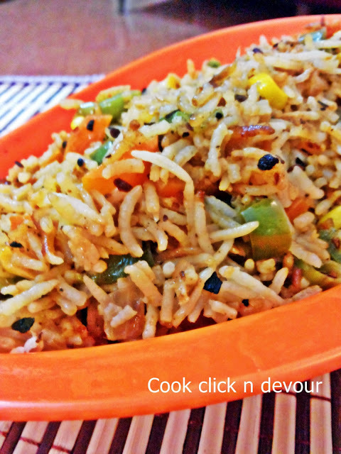triple schezwan fried rice by sanjeev kapoor