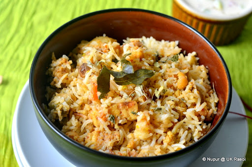 Healthy Veg Biryani .. almost zero oil, almost...