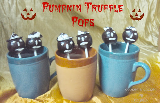 Pumpkin Truffle Pops ( For Groovy Gourmets)