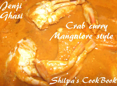 Jenji Ghasi (Crab Curry Mangalore Style)