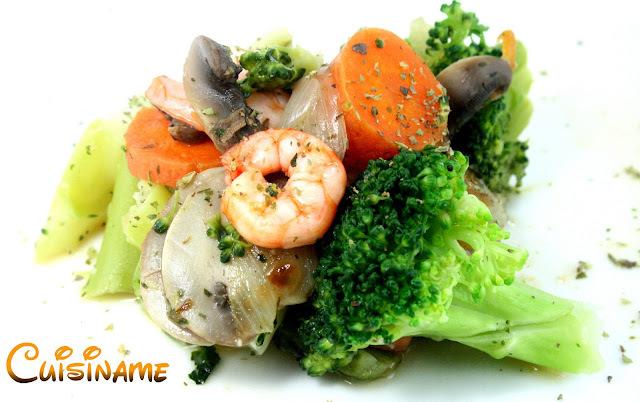 Verduras Salteadas   Receta de Verduras con Gambas