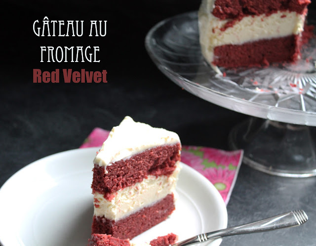 Gateau étagé au fromage et Red Velvet