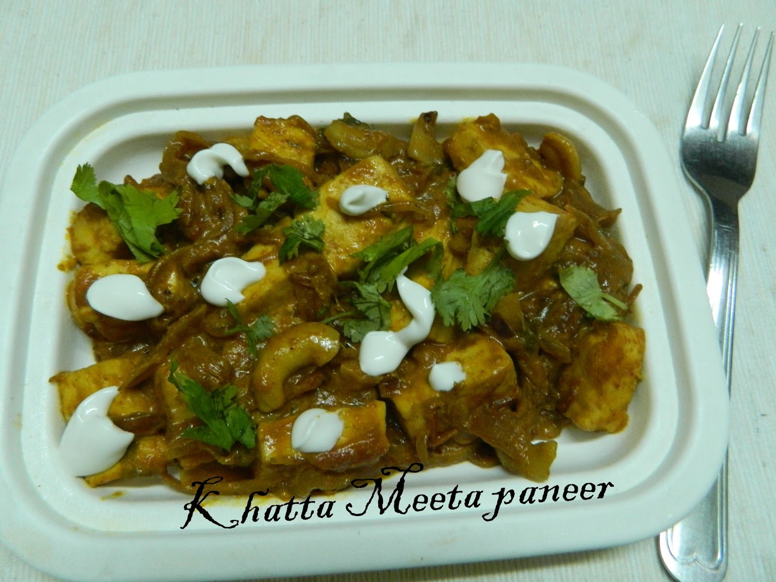 Khatta Meeta Paneer,Sweet and Sour Cottage Cheese