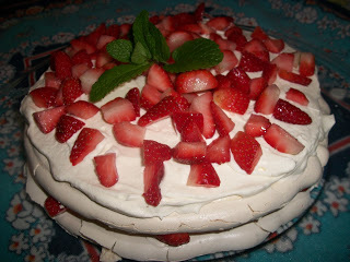 Merengue de morango