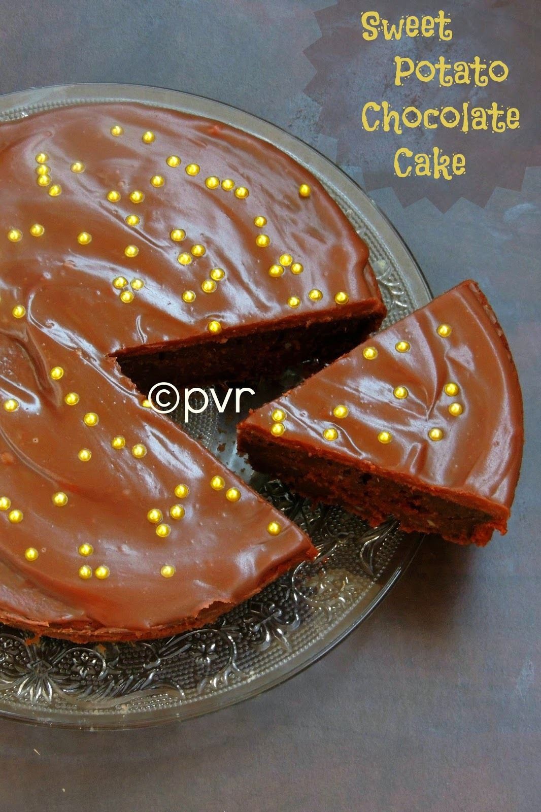 Eggless Sweet Potato Chocolate Cake