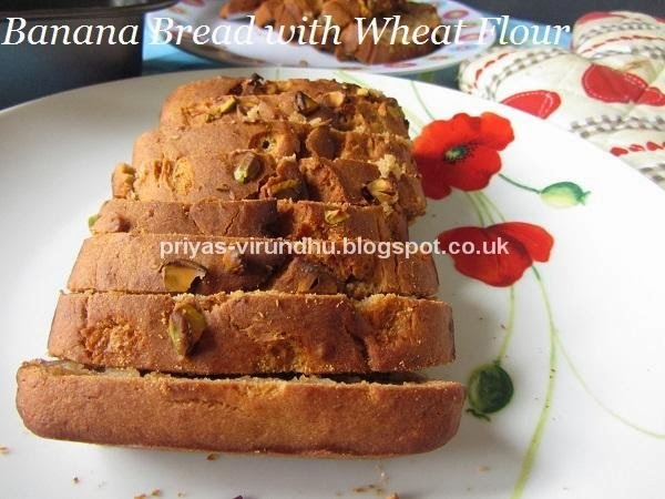 Banana Bread with Wheat Flour [No Butter & No Eggs]