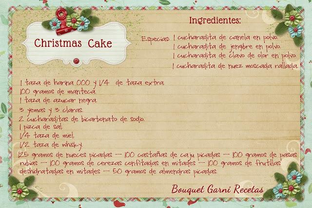 Receta de Navidad. Christmas Cake