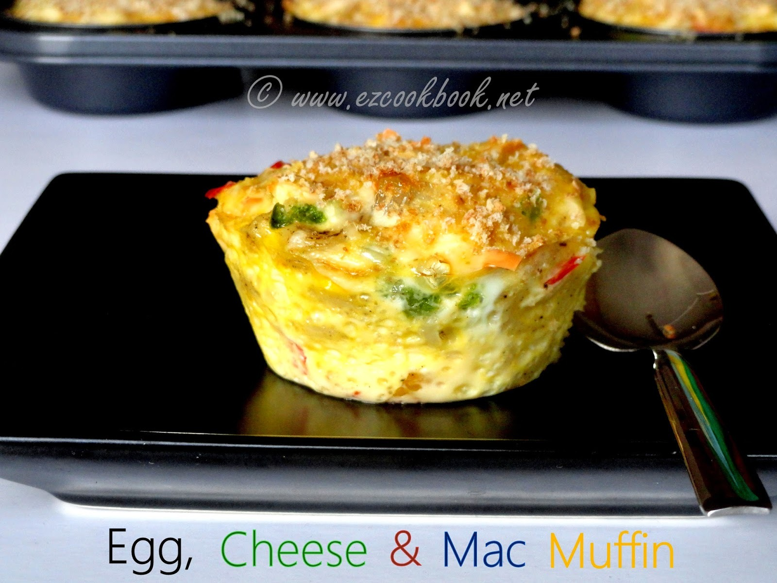 Egg, Cheese & Mac Muffins - Easy Breakfast Muffin Recipe