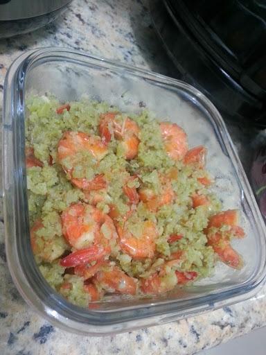 Risoto fake de camarão