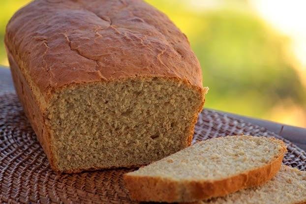 de pão de mandioca com farinha integral
