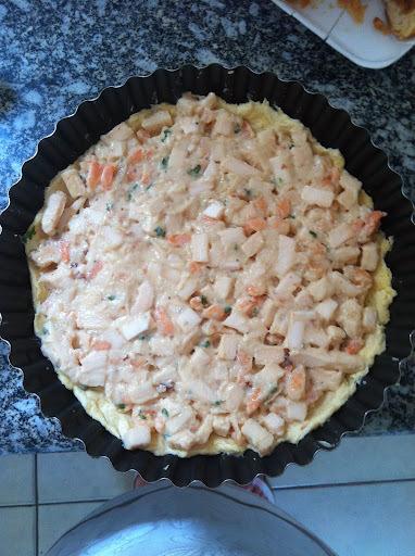 torta fria de atum e palmito