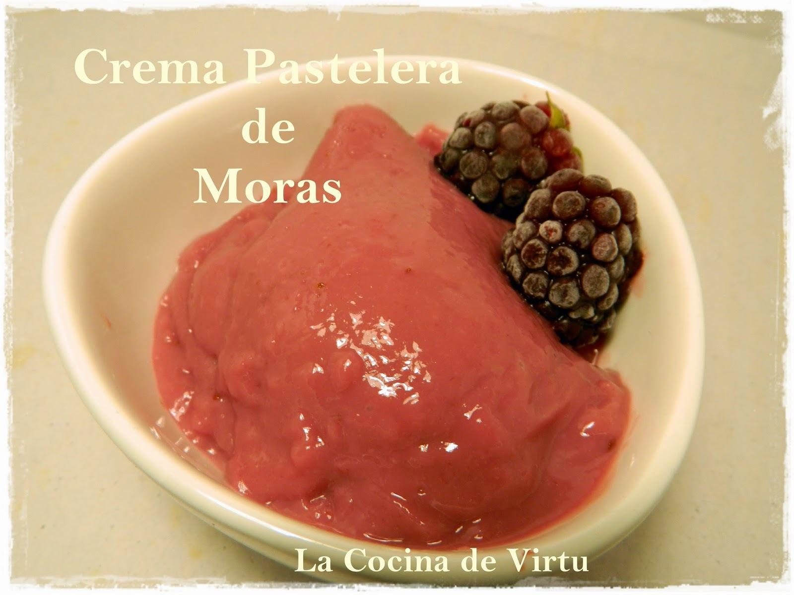Crema Pastelera de Moras