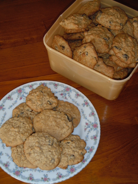 Rolled Oats and Raisin Biscuits