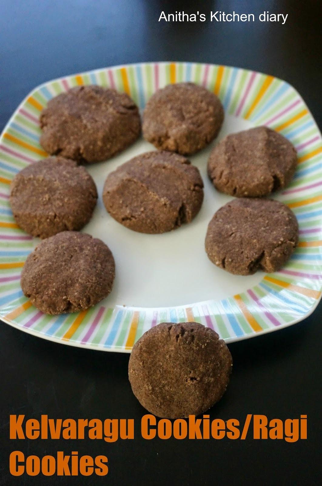 Kelvaragu Biscuits | Ragi Cookies | Finger Millet Cookies