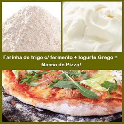 MASSA DE PIZZA SAUDAVEL RAPIDA E MUITO PRATICA COM APENAS 2 INGREDIENTES