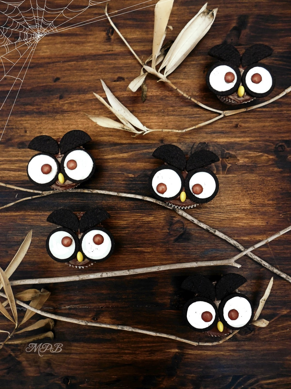 Halloween: Cupcakes Búho de Chocolate