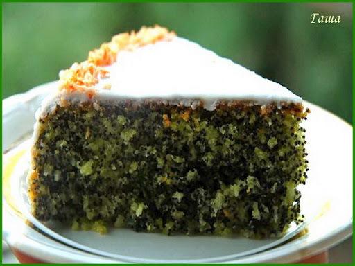 Простой маковый торт.