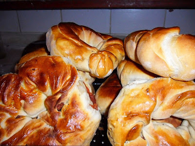 Ciambella alla Salsiccia - Pão tradicional Italiano com recheio de Linguiça Calabresa