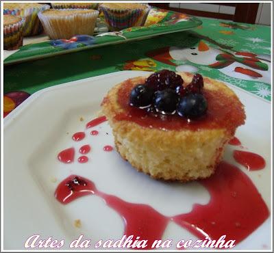 foto e receita bolo de coruja