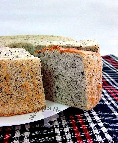 Black Sesame Chiffon Cake