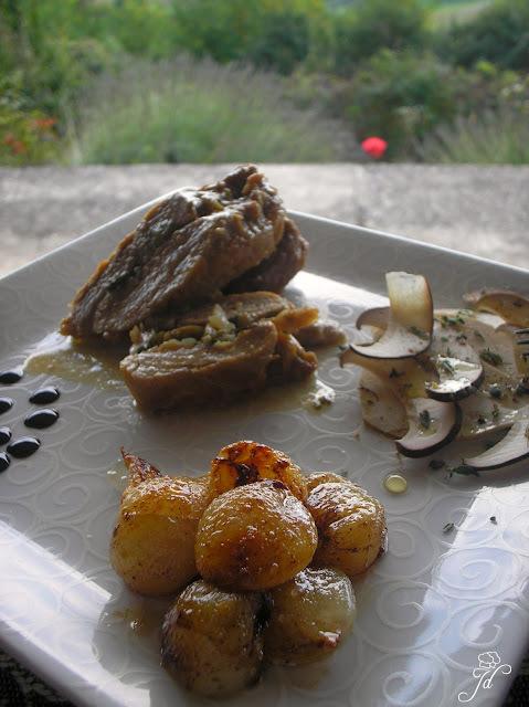 Pork Fillet eu Papillote with Dijon, Fennel and Black Olives  - Punjeni lungić