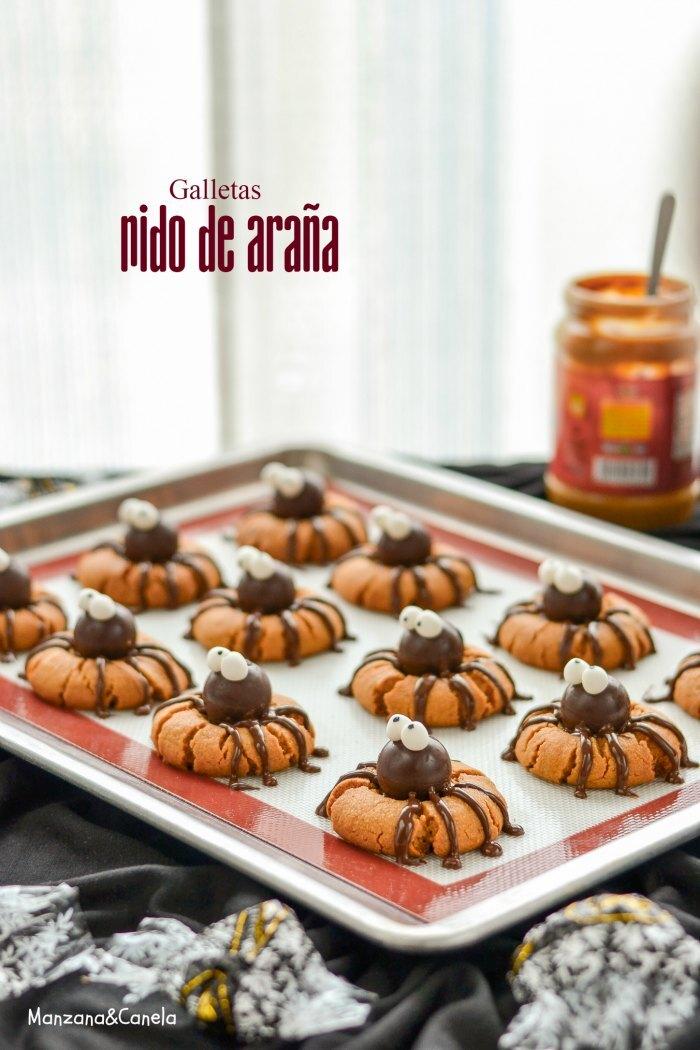 """Galletas """"Nido de Araña"""" (para Halloween)"""