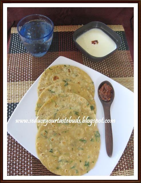 Masala Spring Onion Paratha