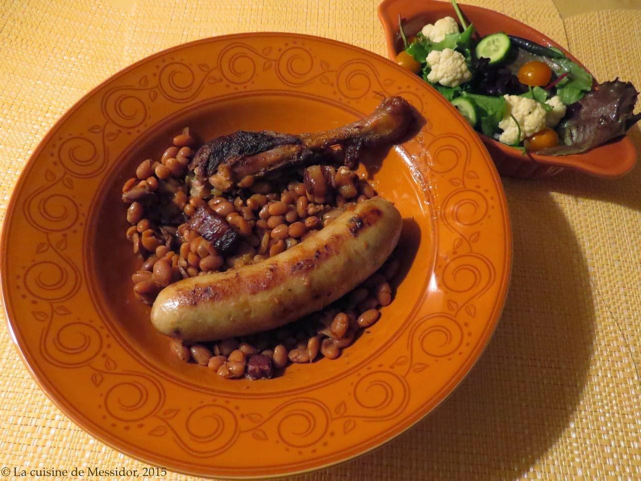Fèves au lard et aux cuisses de canard, version deux