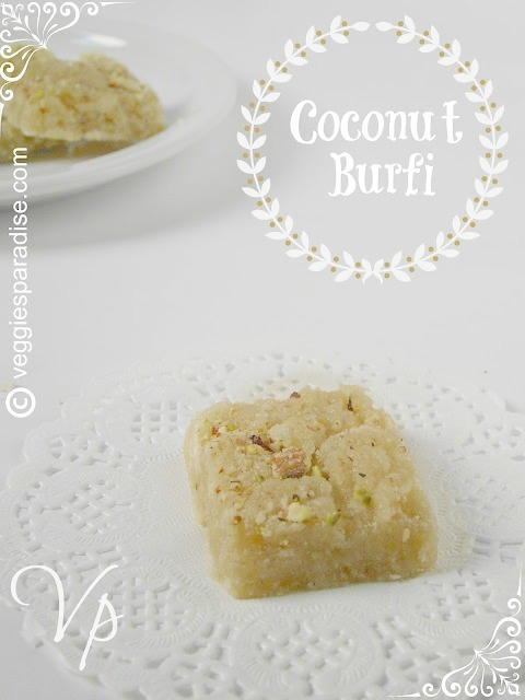 COCONUT BURFI RECIPE| THENGAI BURFI - STEP BY STEP