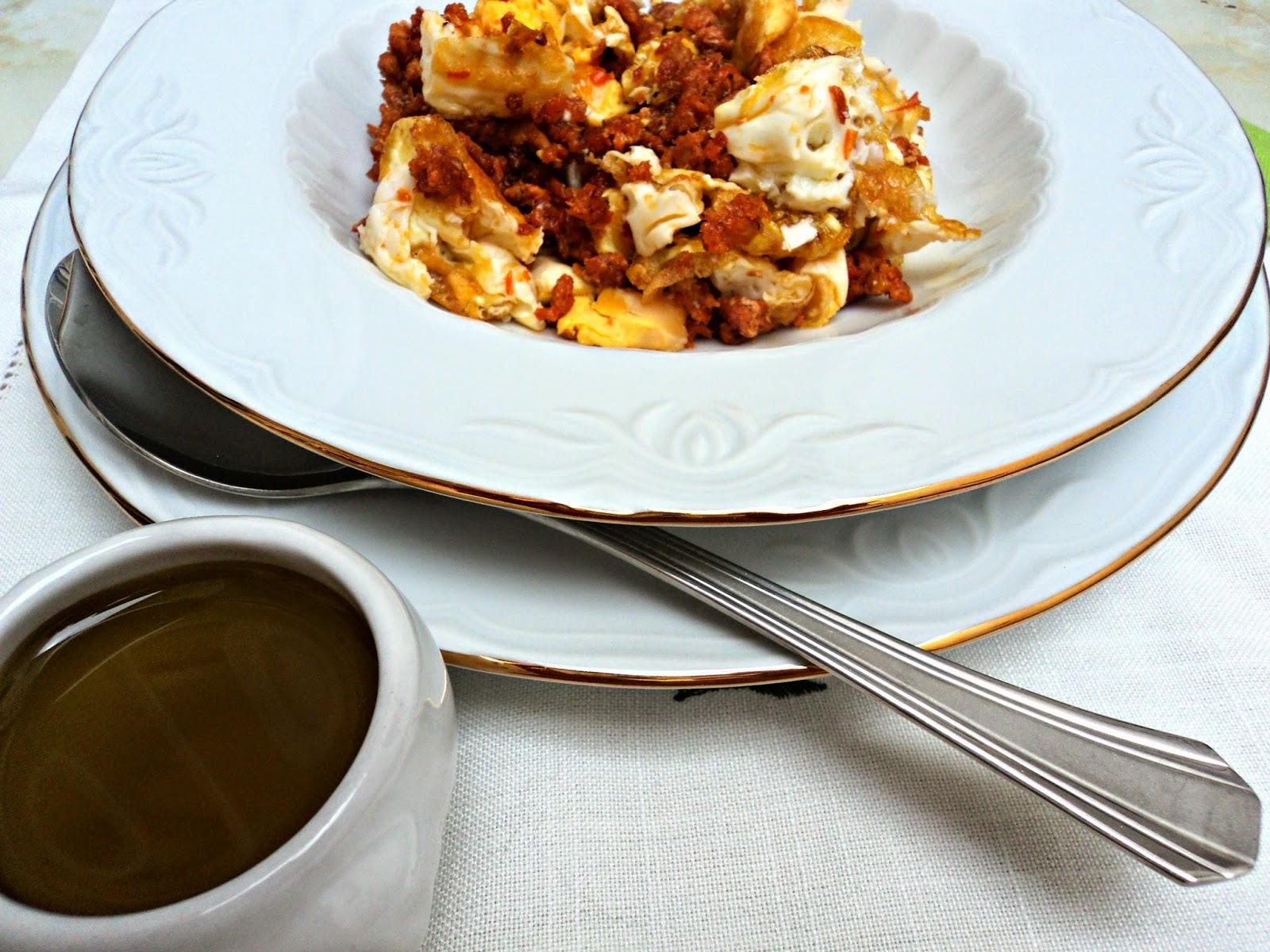 Pasta  con masa de chorizo al huevo sin pasta