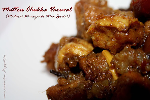 Mutton Chukka Varuval...Madurai Muniyandi Vilas Special....