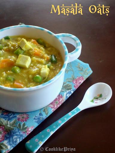 Masala Oats Breakfast Recipe | Spicy Oats Tofu Porridge | Healthy Diabetic Friendly Breakfast