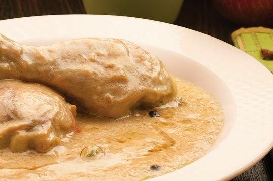 how to make white chicken korma