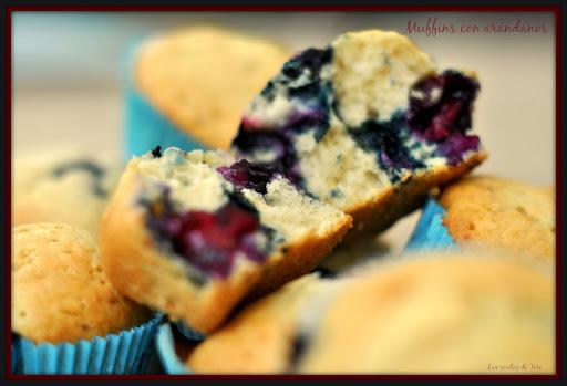 Muffins con arándanos.