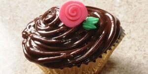 Cupcake de Cenoura com Cobertura de Nutella