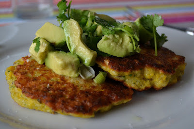 Bill Granger Sweetcorn Cakes and Avocado Salsa
