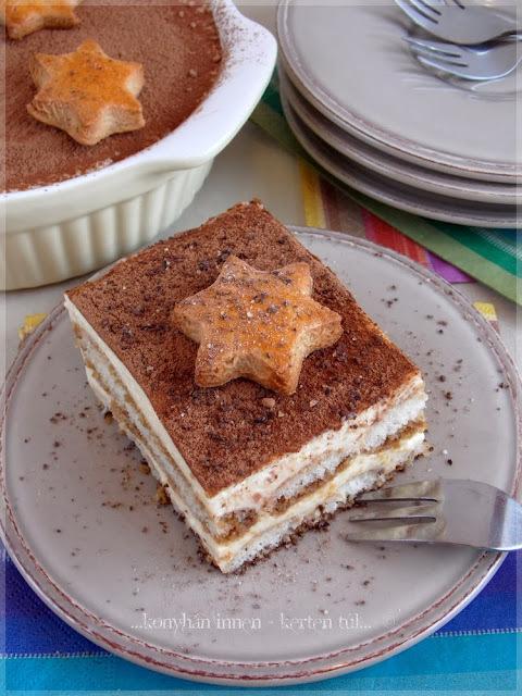 Vaníliakrémes piskótás desszert