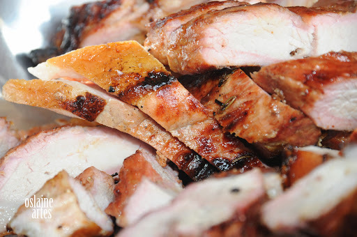 Carne de Porco e Milho Verde Assado na Brasa