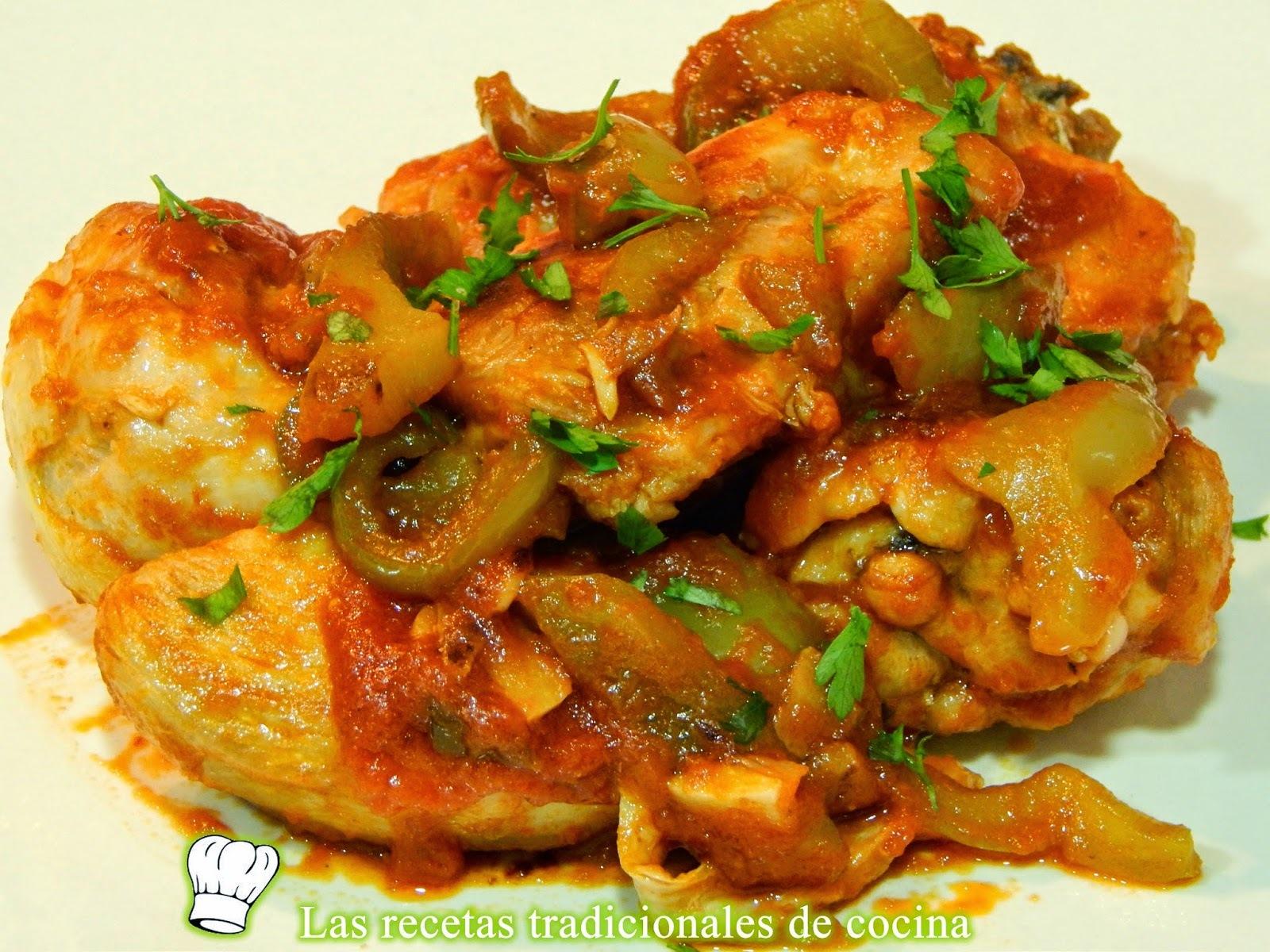 Receta fácil de pollo a la Bilbaína