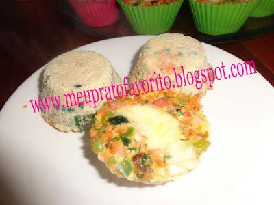 Mini omelete de microondas