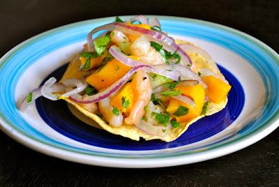 Ceviche de camarón y mango (20 minutos)