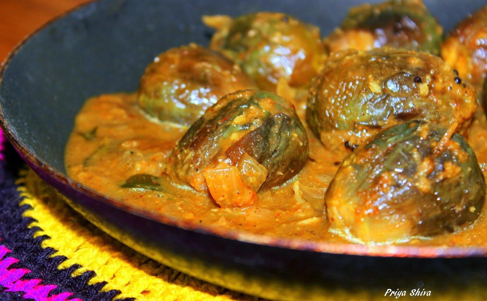 Ennai kathirikkai kulambu / Ennai kathirikkai kuzhambu recipe / Brinjal Curry