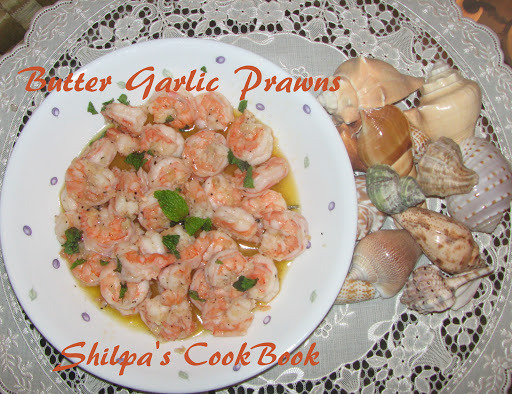 Butter Garlic Prawns