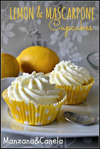 Cupcakes de limón con crema de mascarpone. Simplemente deliciosos!