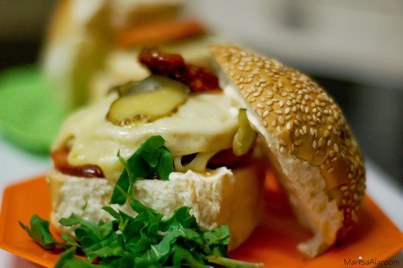 Sanduiche de Hamburguer de Peru