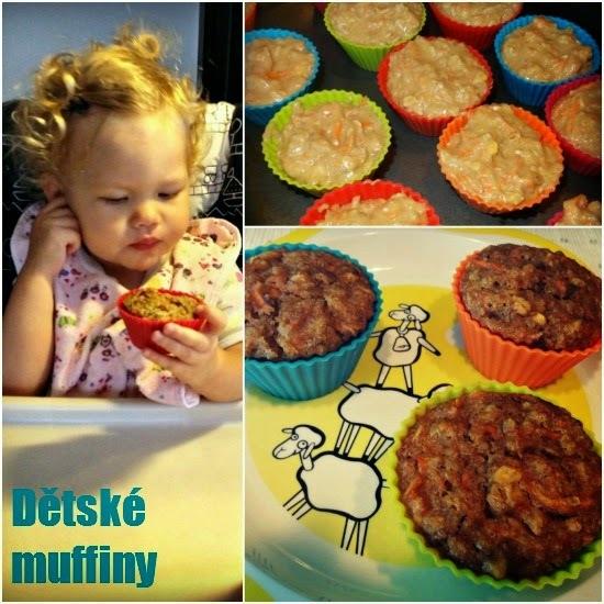 «Recept» Zdravé dětské muffiny