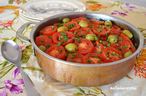 Bacalhau com Batatas Tomates e Azeitonas