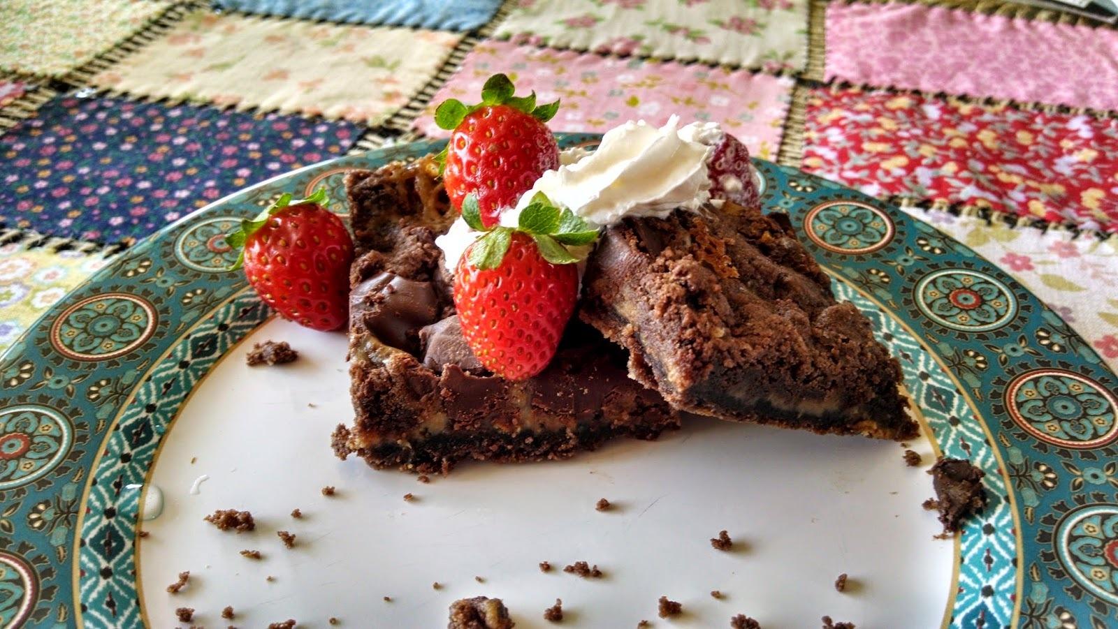 Brownie Recheado com recheio de caramelo