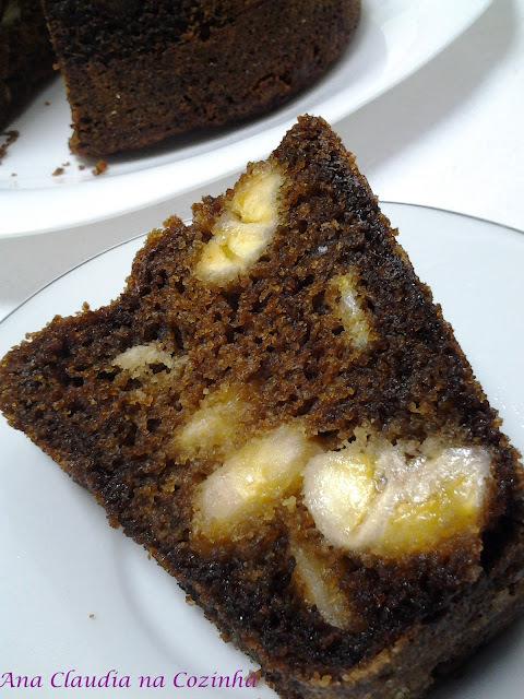 Bolo de Banana com Castanhas - País com Letra D - Dominica - BC Sabores de A a Z - by Cozinha de Mulher