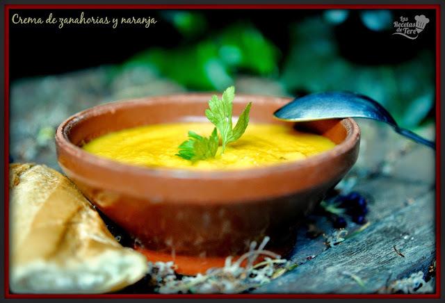 Crema de zanahorias y naranja.